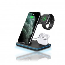 3-in-1 Wireless Quick Charger (Black)