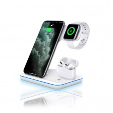 3-in-1 Wireless Quick Charger (White)