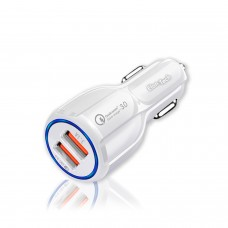 45w Qc 3.0 Smart Car Charger (White)